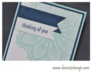 Stampin' UP! Hello doily, Best dad ever