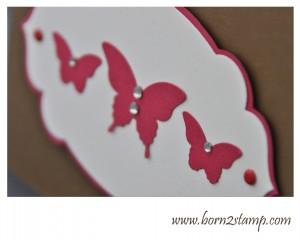 Stampin' UP! Eleganter Schmetterling Mini-Schmetterling Big Shot Nostalgische Etiketten
