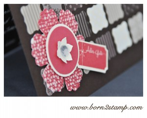 Stampin' UP! Mixed Bunch Ticket für Dich Big ShotQuadratisches Gitter Stanze Boho Blüten Stanze Geschwungenes Mini-Etikett