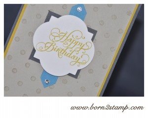 Stampin' UP! Distressed Dots, Beautiful Birthday