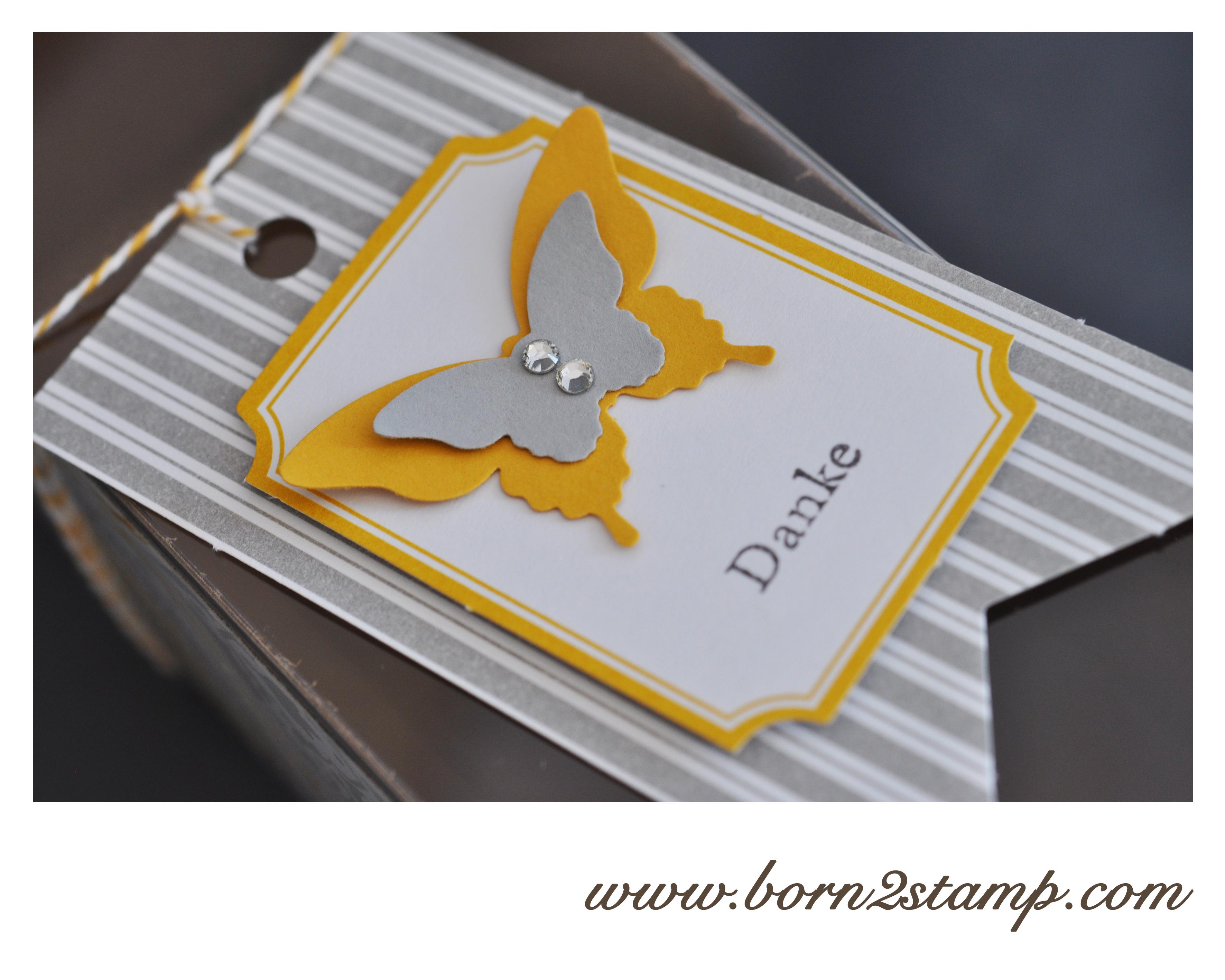 Stampin' UP! DSP Zauber des Orients Geschenkschachteln Schnelle Überraschung Papillon Potpourri