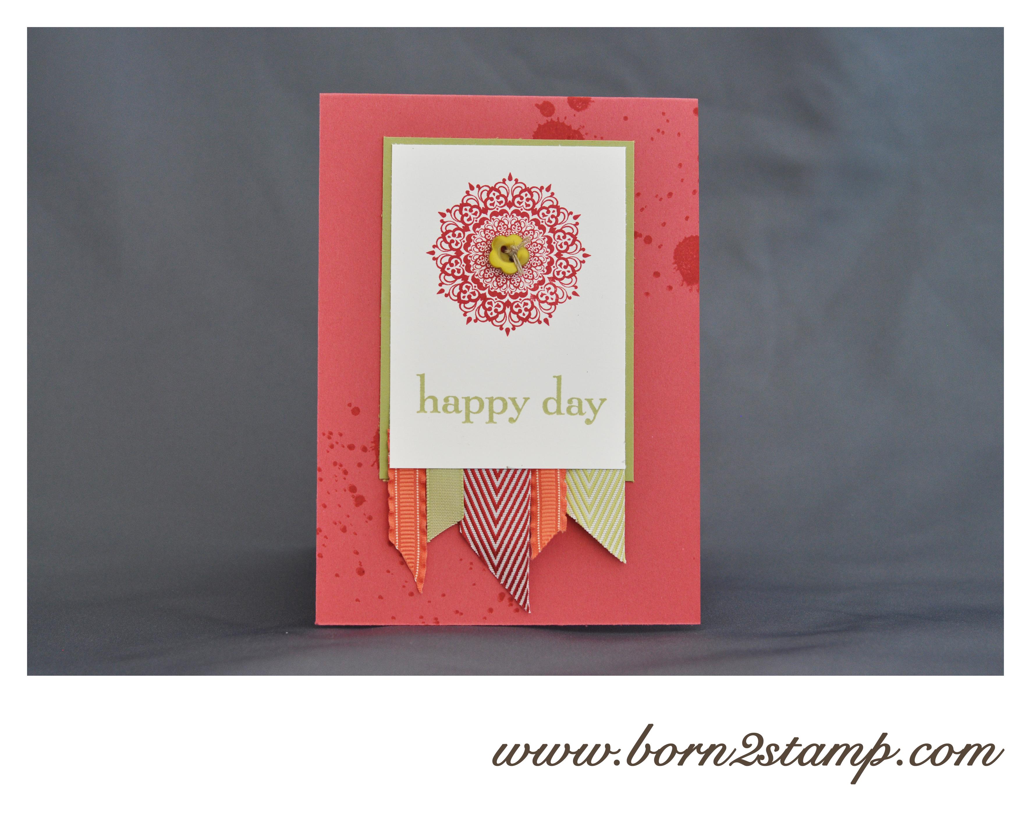 Stampin' UP! Geburtstagskarte Happy Day Sonnenschein Gorgeous Grunge