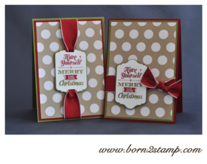 Stampin' UP! Weihnachtskarte mit Merry little christmas