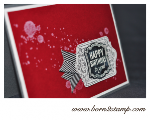 Stampin' UP! Geburtstagskarte mit Gorgeous Grunge, Label Love und Tafelrunde / Chalk Talk