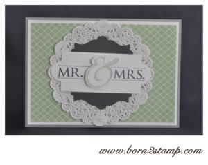 Hochzeitskarte mit Mr. & Mrs.