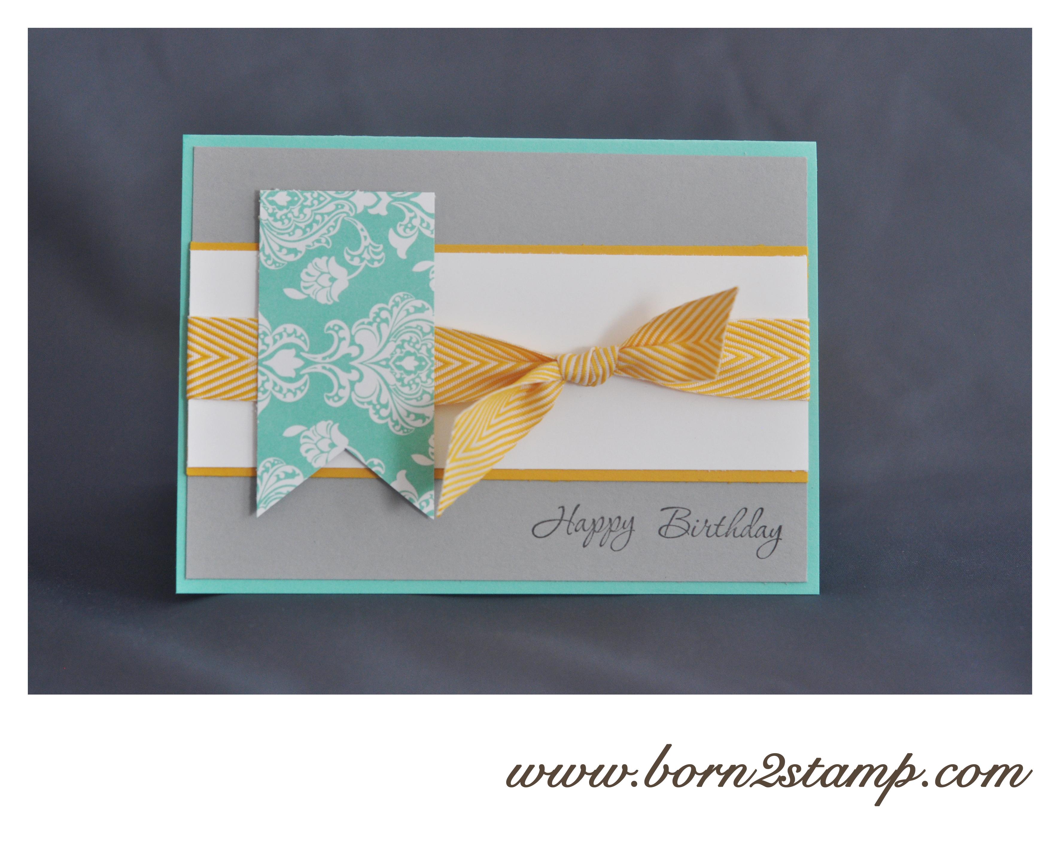 Stampin' UP! Geburtstagskarte mit Memorable Moments und DSP Zauber des Orient