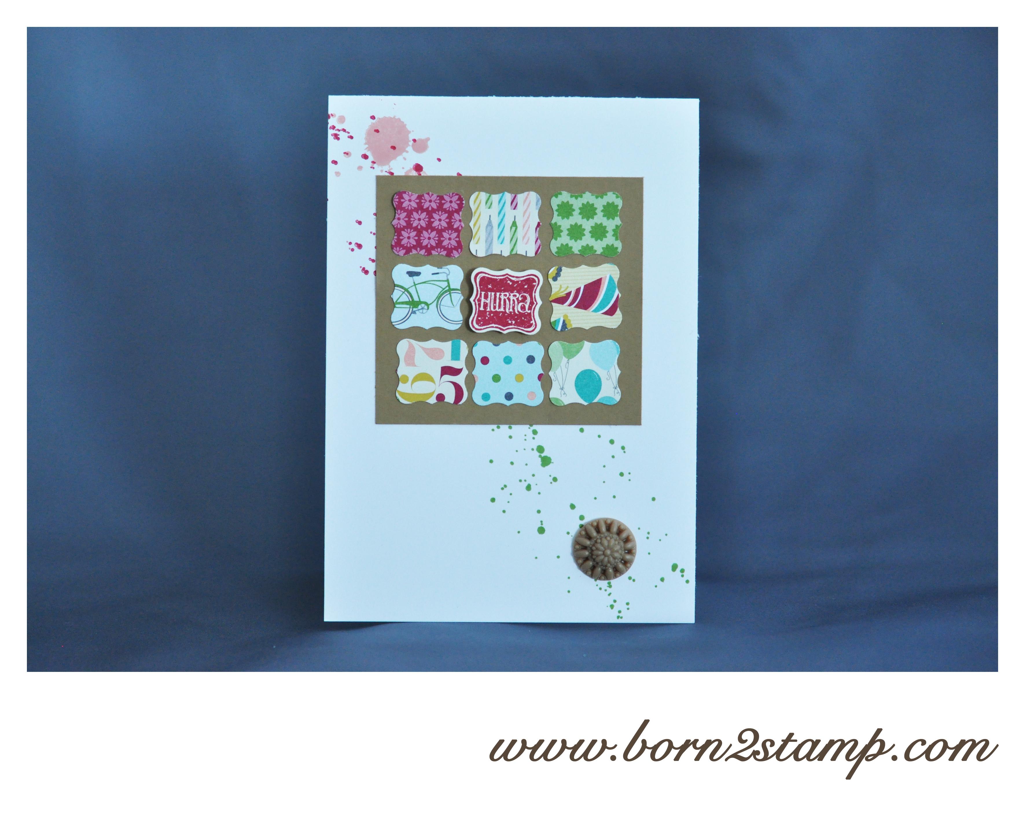 Stampin' UP! Geburtstagskarte mit Gorgeous Grunge Klein aber fein Reliefakzente