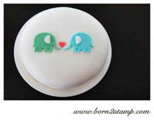 Elefantenparty Geburtstagstorte