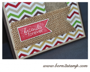 Stampin' UP! Karte mit Remembering christmas und Banner greetings