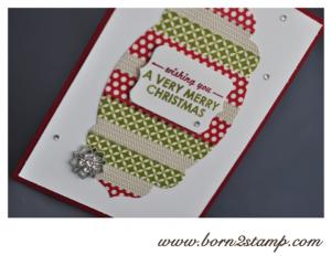 Stampin' UP! Weihnachtskarte mit Wishing you, Washi Tape Stilmix und Winterblüte