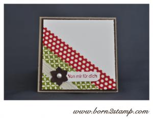 Stampin' UP! Minikärtchen mit Washi Tape Stilmix und Kleine Wünsche