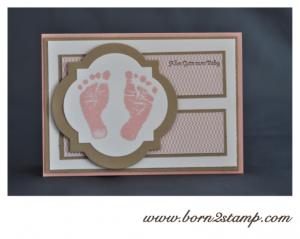 Stampin' UP! Babykarte mit Babyglück und Kleine Wünsche