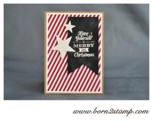 Stampin' UP! Weihnachtskarte mit Merry little Christmas und DSP Stilmix