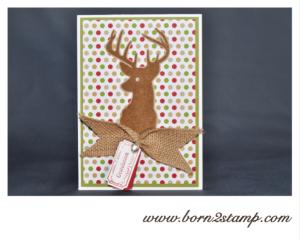 Stampin' UP! Geburtstagskarte mit Remembering christmas und Ticket für Dich und Kleine Wünsche