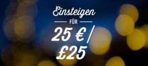 Einsteigen für 25€
