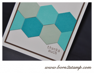 Stampin' UP! Dankeskarte mit Six-sided Sampler