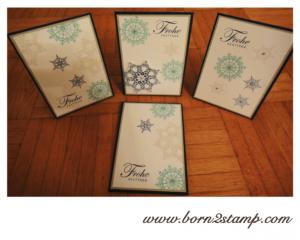 Stampin' UP! Weihnachtskarte mit Winterzauber und Grüße zum Fest
