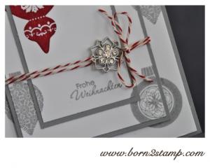 Stampin' UP! Weihnachtskarte mit Ornament Keepsakes und den Winterblüten