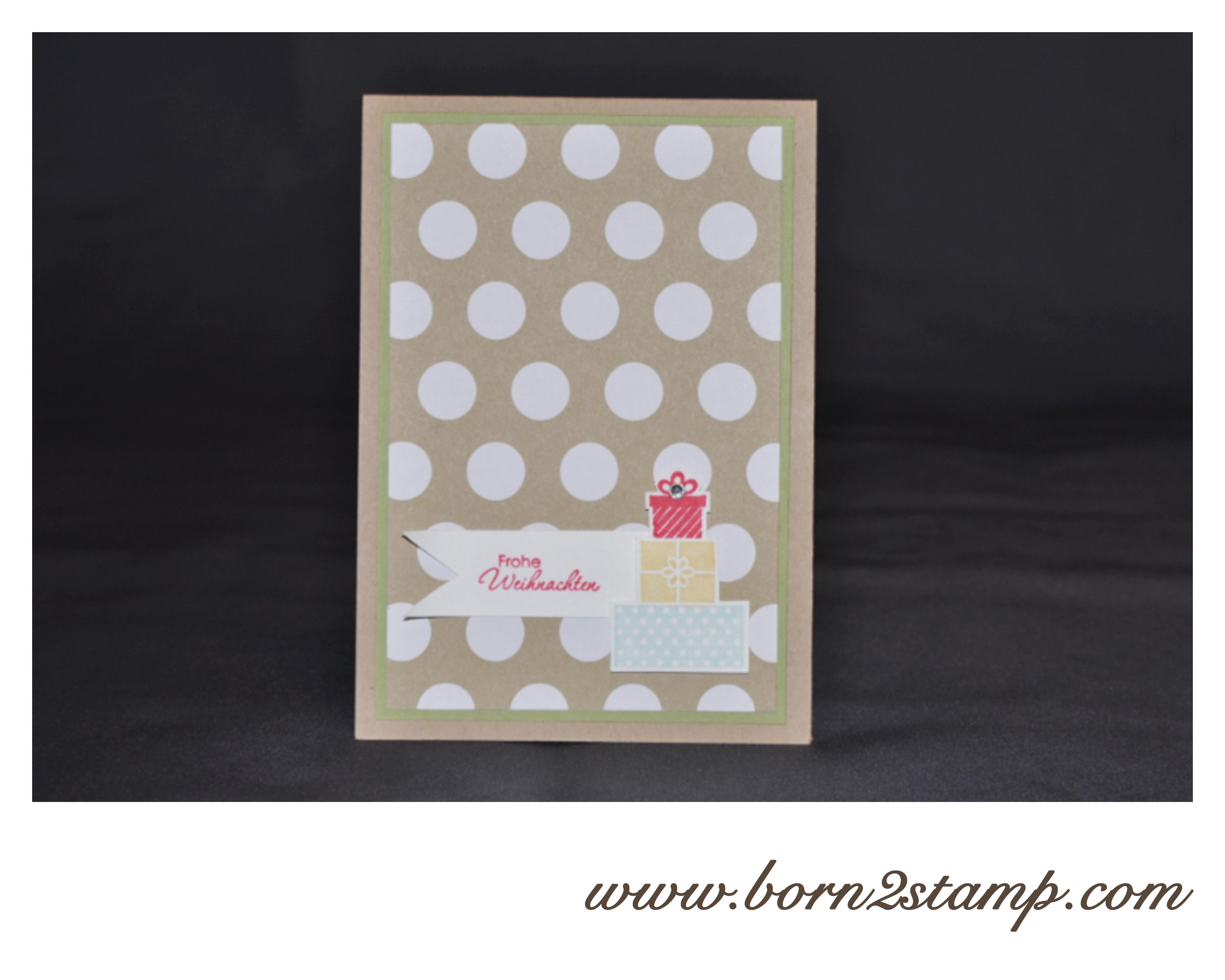Stampin' UP! Weihnachtskarte mit Wishing you und Perfekte Pärchen