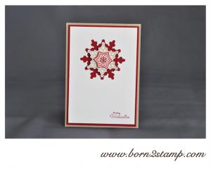 Stampin' UP! Weihnachtskarte mit Festive Flurry