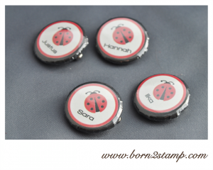 Marienkäferparty Buttons Ladybug party