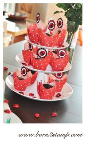 Marienkäferparty Muffin Piekser Ladybug party