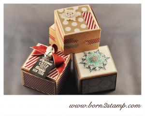 Stampin' UP! Sandfarbene Geschenkboxen
