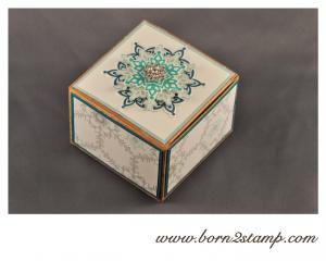Stampin' UP! Sandfarbene Geschenkboxen mit Eiszauber