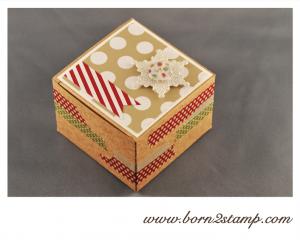 Stampin' UP! Sandfarbene Geschenkboxen mit Stilmix
