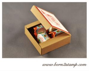 STAMPIN' UP! kleine Verpackung mit Santas list