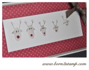 STAMPIN' UP! Weihnachtskarte mit Fingerabdrücken