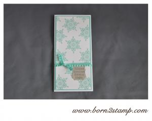 STAMPIN' UP! Weihnachtskarte mit Festive Flurry und Christmas Messages