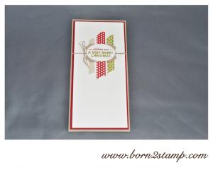 STAMPIN' UP! Weihnachtskarte mit Wishing you und Washi Stilmix