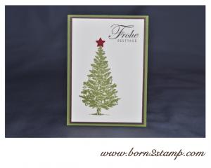 STAMPIN' UP! Weihnachtskarte mit Special Season und Grüße zum Fest