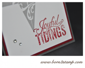 STAMPIN' UP! Weihnachtskarte mit Christmas Star und Christmas Messages