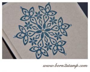 STAMPIN' UP! Weihnachtskarte mit Festive Flurry und Grüße zum Fest