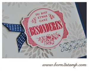 STAMPIN' UP! Geburtstagskarte mit SAB Etwas ganz Besonderes und SAB Petal Parade