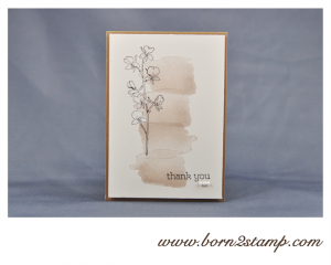 STAMPIN' UP! Dankeskarte mit Happy Watercolor