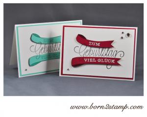 STAMPIN' UP! Geburtstagskarte mit Dein Tag