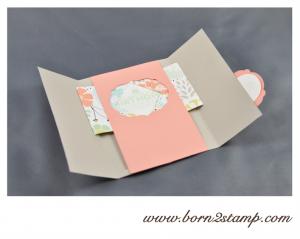 STAMPIN' UP! Geburtstagskarte mit SAB 2014 DSP und See ya later und Kleine Wünsche und Make a Cake inkl. Umschlag mit Envelope Punch Board