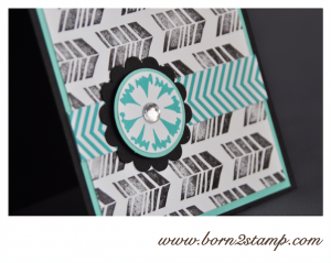 STAMPIN' UP! Karte mit Petal Parade