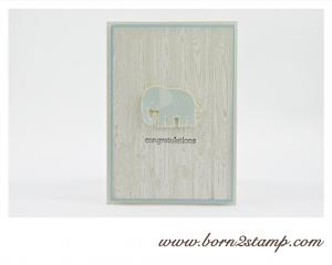 STAMPIN' UP! Babykarte mit Zoo Babies und Hardwood