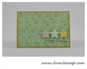 STAMPIN' UP! Geburtstagskarte mit Süße Sorbets und Petite Petals und Memorable Moments