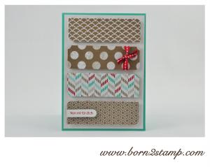 STAMPIN' UP! Karte mit Frisch & Farbenfroh und Kleine Wünsche