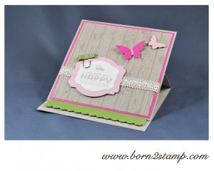 STAMPIN' UP! Karte mit SAB See ya later und Hardwood und Elegantem Schmetterling und Mini-Schmetterling
