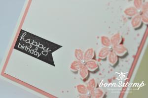 STAMPIN' UP! Geburtstagskarte mit Gorgeous Grunge und Banner Greetings und Petite Petals