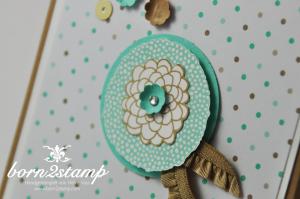 STAMPIN' UP! Geburtstagskarte mit Petal Parade und DSP Frisch & Farbenfroh