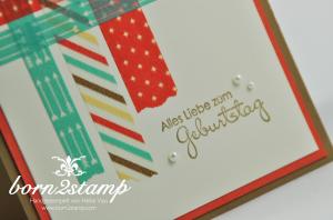STAMPIN' UP! Geburtstagskarte mit Washi Retro-Spaß und Perfekte Pärchen