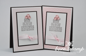 STAMPIN' UP! Hochzeitskarte mit Zum schönsten Tag im Leben