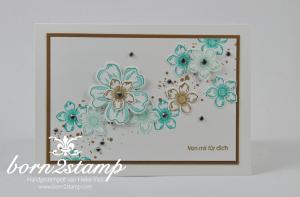 STAMPIN' UP! Karte mit Petite Petals und Flower Shop und Kleine Wünsche